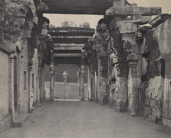 Entrance to the steps, leading up to the pagoda on the Rock, looking towards the street [Tiruchchirappalli]